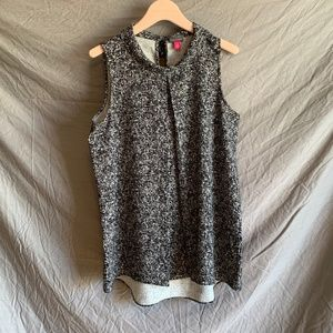 Vince Camuto black & white blouse, size M